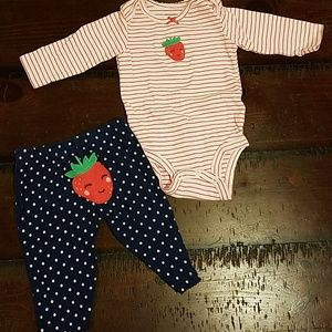 Carter's Strawberry Outfit Set 3month